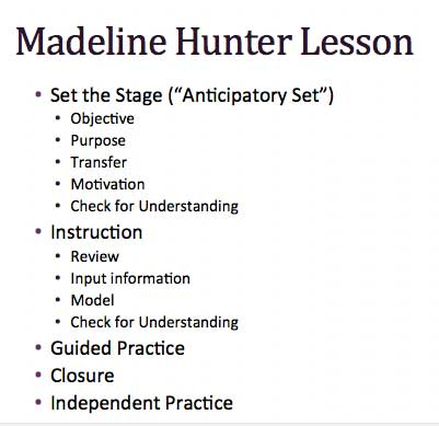Madeline Hunter Mastery Teaching Smore Newsletters For Education